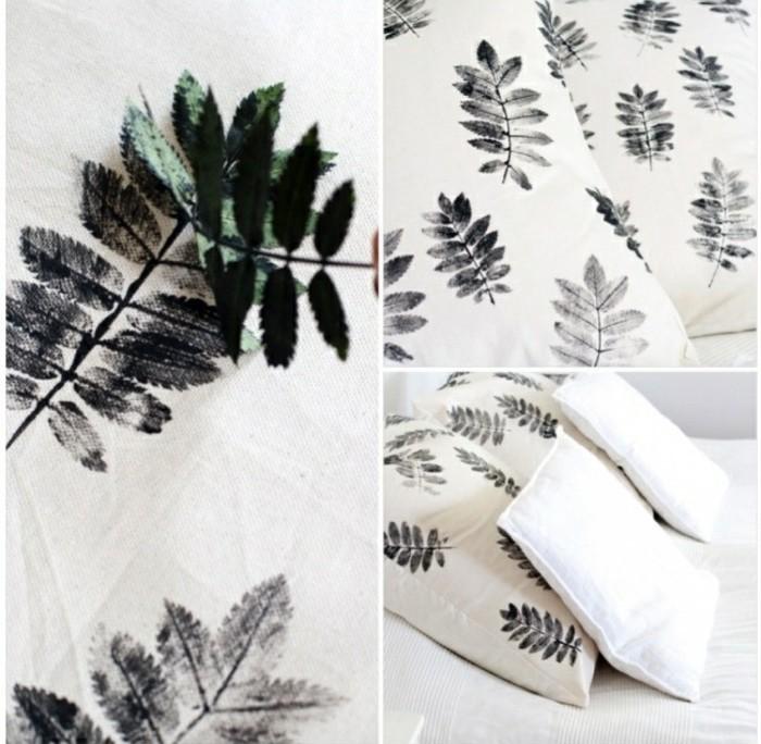 tuto-coussin-orner-les-coussins-blancs-en-utilisant-des-feuilles-2