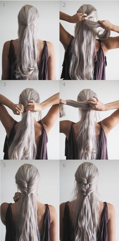 la demi queue de cheval - une coiffure qui revient à la