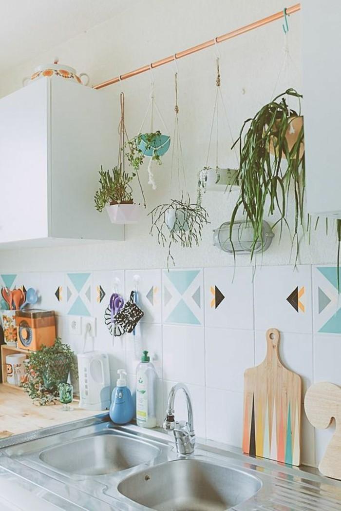 tuyau-cuivre-cuisine-pour-suspendre-des-plantes-au-mur