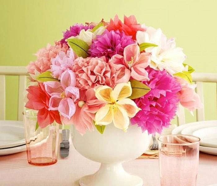 Fabriquer une fleur en papier de soie 67 id es diy remarquables - Comment faire un bouquet de fleurs ...