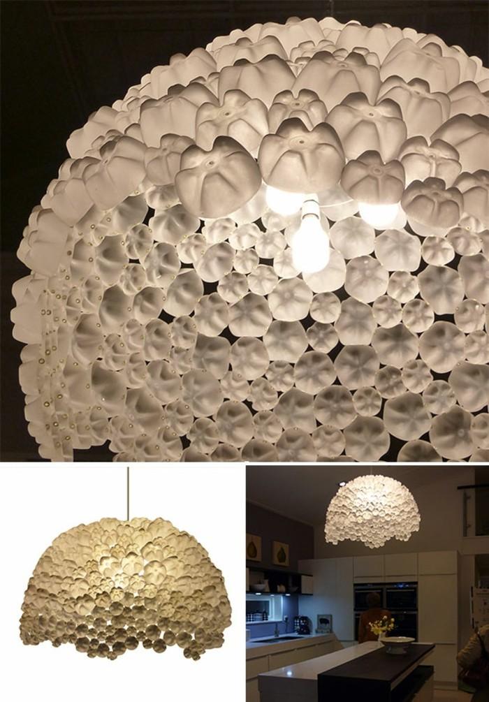 Que faire avec des bouteilles en plastique 54 id es de recyclage cr atif - Fabriquer lampe bouteille ...