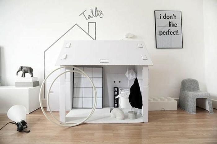 Comment fabriquer une cabane en carton tuto et plusieurs for Objet de decoration pour chambre