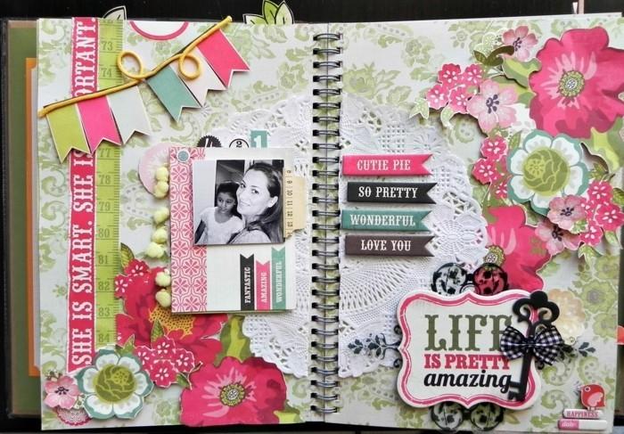 un-planner-joliment-decore-accessoires-scrapbooking-pour-customiser-son-agenda