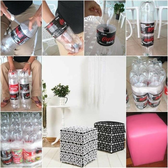 une-pouf-fabriquee-avec-des-bouteilles-en-plastique-recyclable-un-siege-diy-a-faire-soi-meme