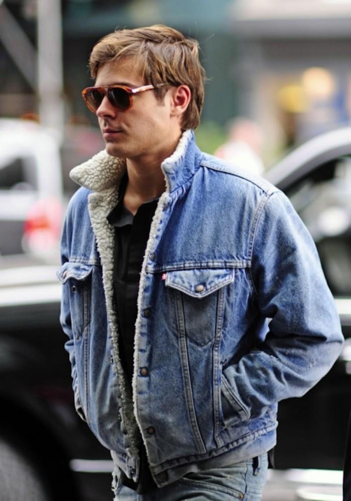 Veste en jean col mouton femme levi's