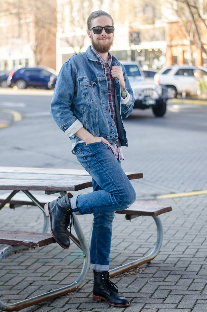 Veste en jean homme levi's vintage