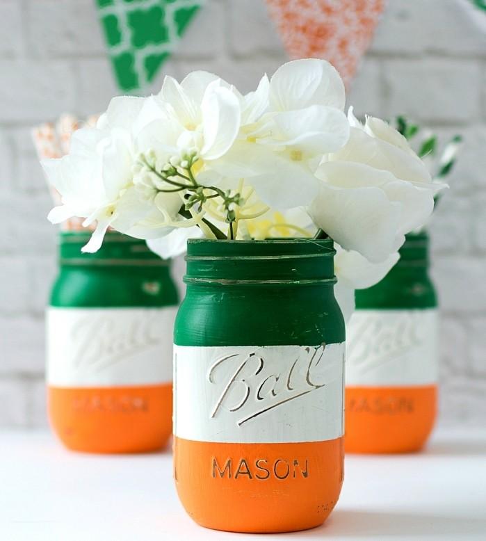 1que-faire-avec-des-pots-de-yaourt-en-verre-bocaux-peints-en-orange-vert-et-blanc