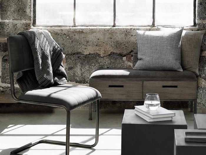banc-de-rangement-en-tissu-et-en-bois-fauteuil-avec-rangements-vintage-retro