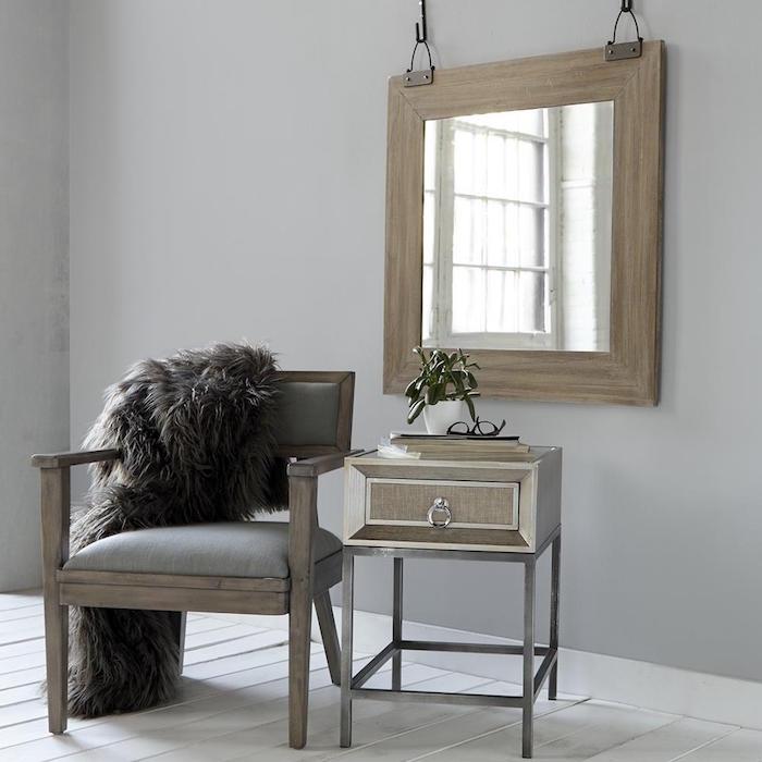 miroir-suspendu-en-bois-retro-style-vintage