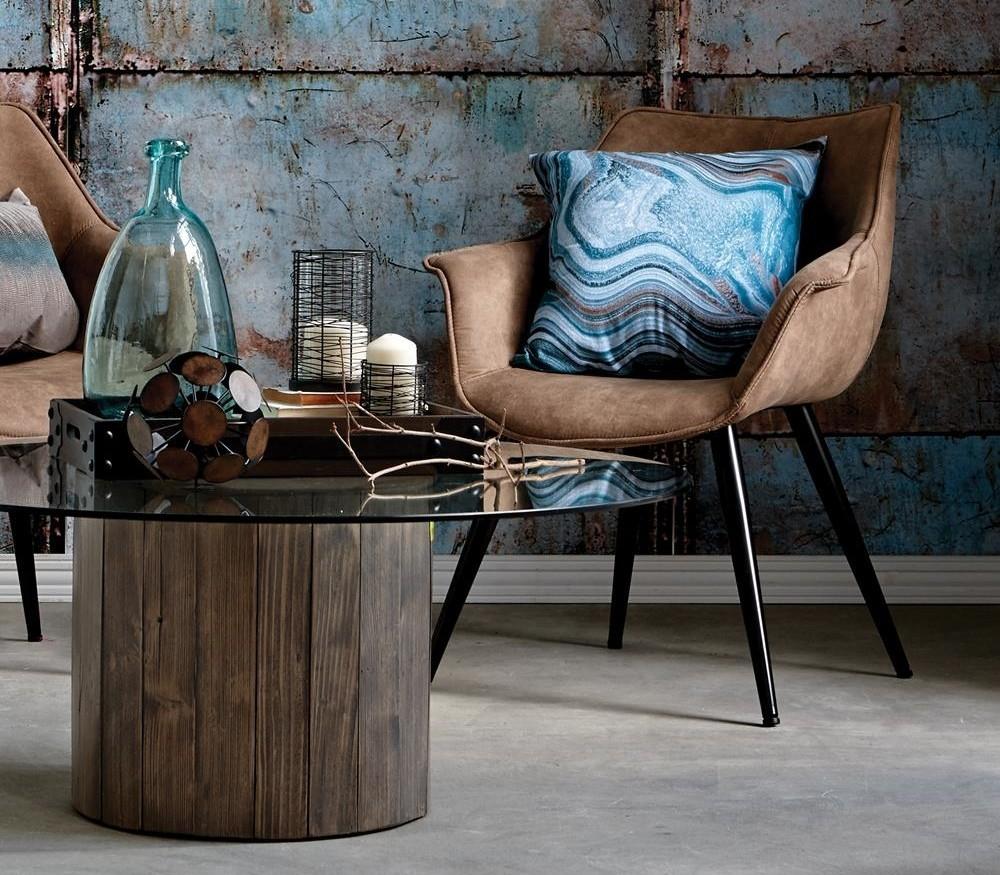 touret bois table basse pour ides pour des meubles au style vintage with table basse en rondin. Black Bedroom Furniture Sets. Home Design Ideas