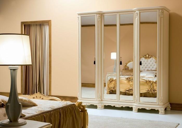 alinea armoire 2 portes meuble dressing miroir glace classique barroque design vintage