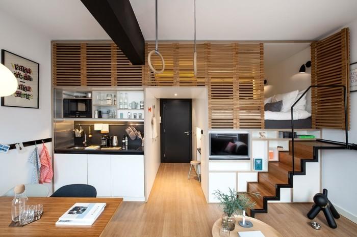 amenagement-petit-espace-lit-superpose-idee-compacte-petite-cuisine