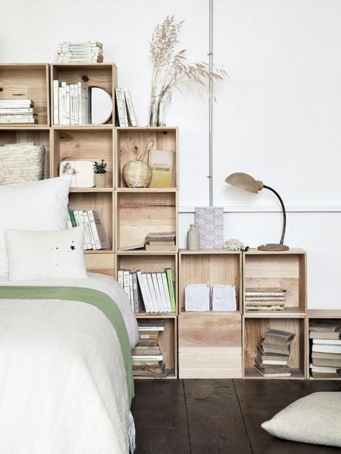 aménagement-petite-chambre-avec-des-nombreux-casiers