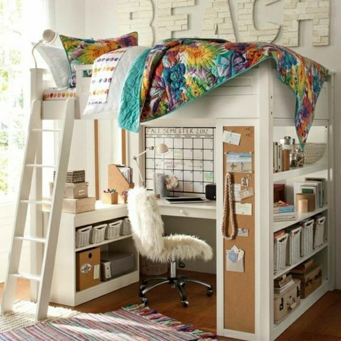 aménagement-petite-chambre-lit-au-deuxieme-etage