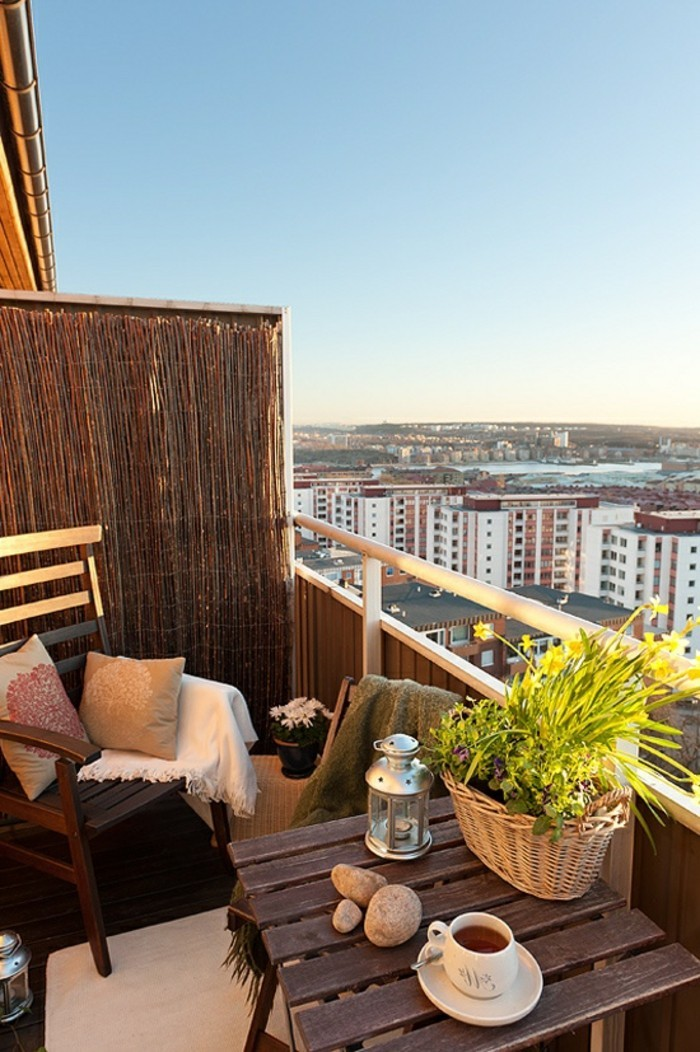 Comment am nager un balcon avec style 55 photos - Amenager petit balcon appartement ...