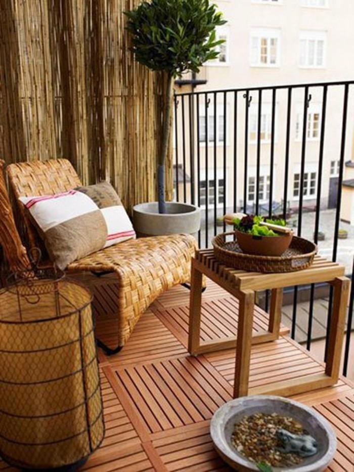 amenager-un-balcon-meubles-dexterieur-en-rotin-et-bois