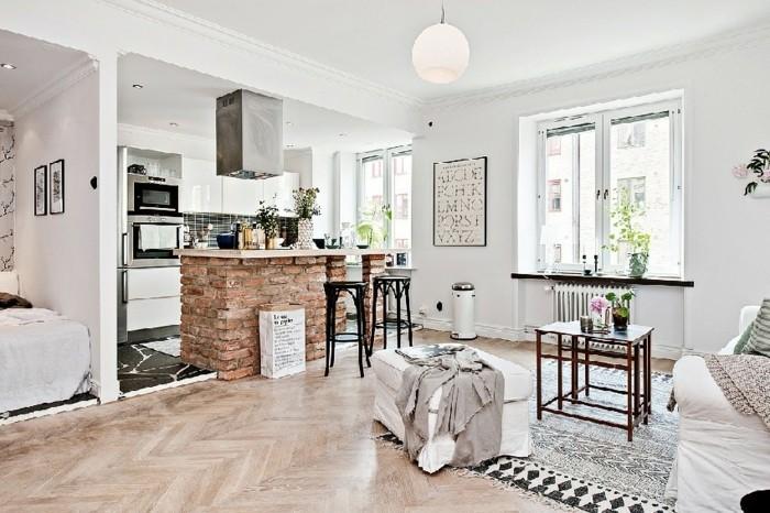 amenager-un-petit-appartement-ilot-centrale-en-briques-tableau-citation