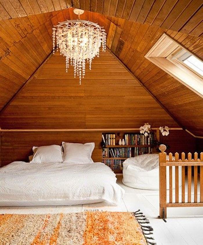 aménager les combles faire chambre dans comble piece sous toit