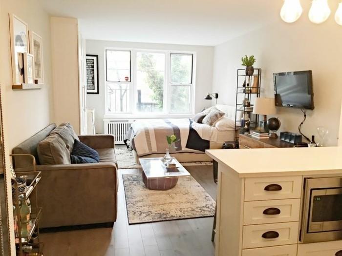 amenager-petit-espace-cuisine-equipee-canape-modulable-peintures
