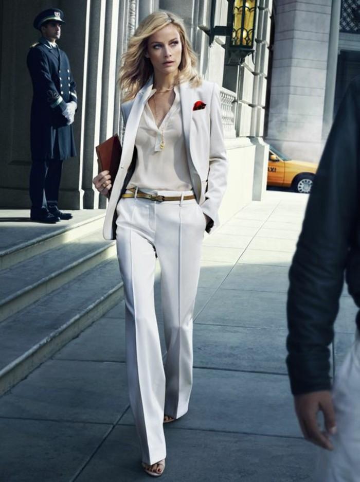 8f1c475c449 Pantalon blanc femme habillé