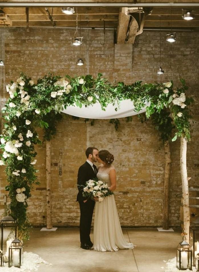 arche-de-mariage-florale-décoration-intérieur-cérémonie-de-mariage