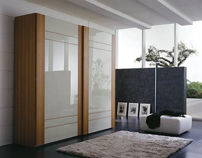 armoire penderie design dressing en bois verre style