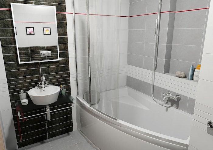astuce salle de bain modèle avec baignoire renovation salles moderne