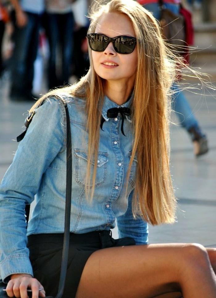 avec-quoi-porter-une-chemise-en-jean-papillon-noir-shorts-vision-elegante