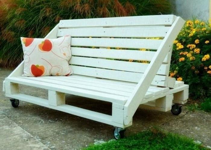 1001 id es pour fabriquer un banc en palette charmant for Recup palette jardin
