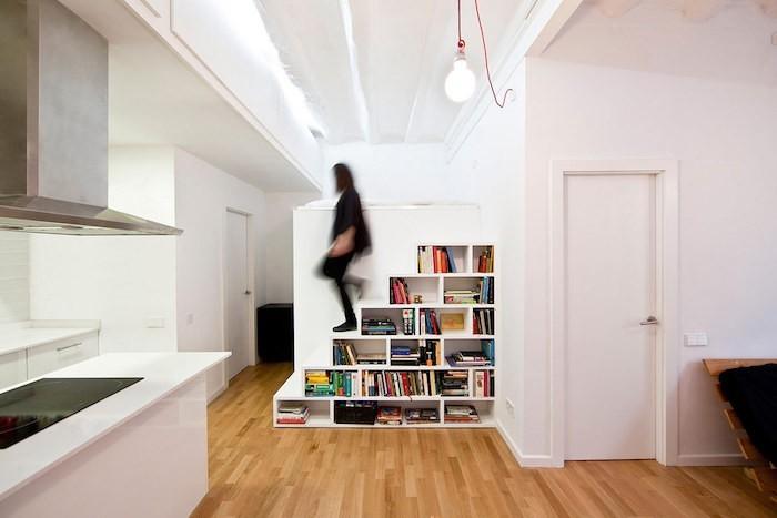 bibliotheque-escalier-alinea-etagere-zig-zag-ikea-cube-mural-bois-modulable
