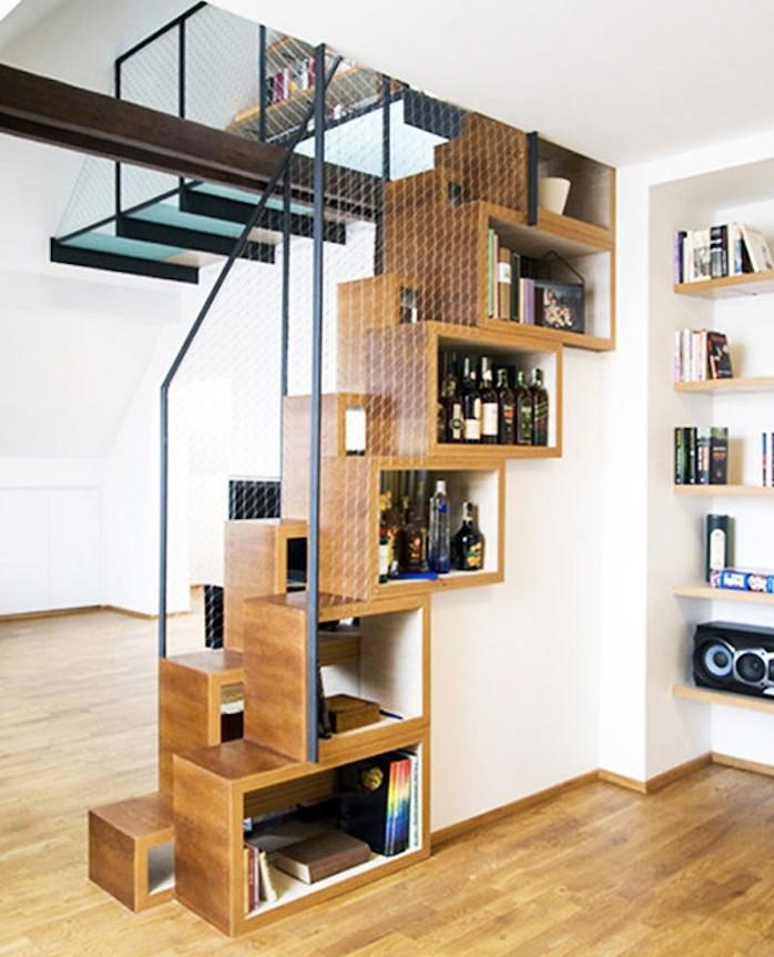 bibliotheque-escalier-bois-design-cube-de-rangement-modulable-etagere-separation-de-piece