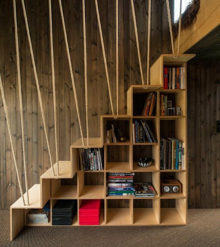 bibliotheque-sous-escalier-bois-etagere-suspendue-rangement-cube-multicasecase