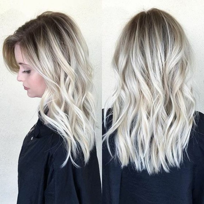 balayage blond tres clair 15 blond cendre ondulations legeres sur cheveux blonds homeezy. Black Bedroom Furniture Sets. Home Design Ideas
