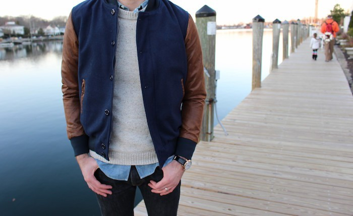 blouson-americain-homme-veste-teddy-bleu-marron-cuir-style-hipster-vintage-base-ball