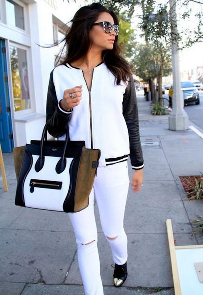 blouson-american-college-veste-teddy-smith-femme-blanc-noir-fashion-mode