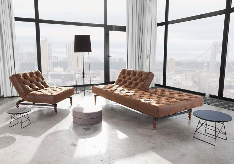 Idées Pour Des Meubles Au Style Vintage - Fauteuil cuir marron design