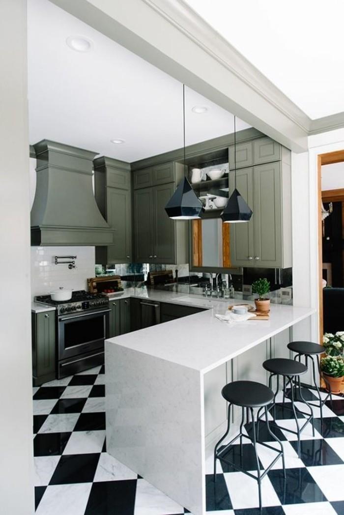 1001 id es pour une cuisine relook e et modernis e - Repeindre cuisine en gris ...