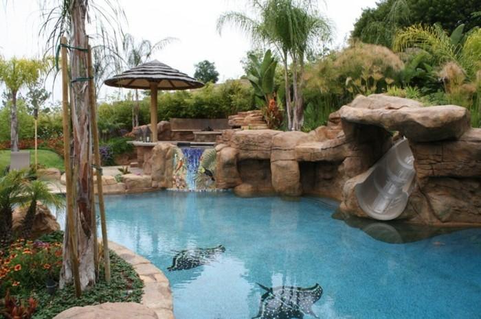 20170829093525 bassin avec cascade en pierre for Bassin piscine pierre