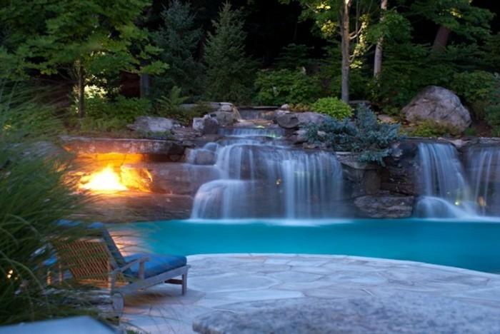 Cascade-bassin-se-reposer-dans-le-jardin-en- Pourquoi Choisir La Piscine  Avec ...