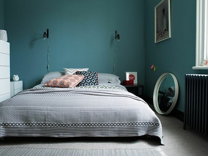 1001 id es pour une chambre bleu canard p trole et paon sublime. Black Bedroom Furniture Sets. Home Design Ideas