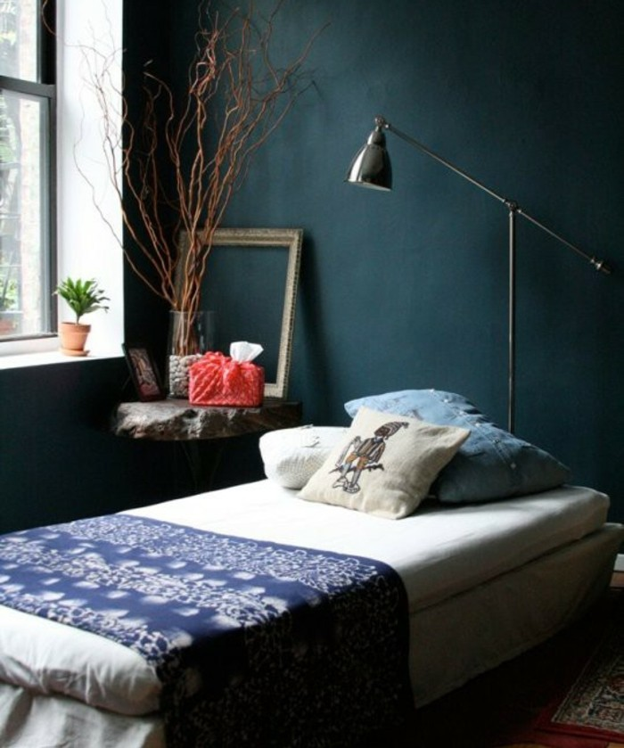 deco chambre bleu paon avec des id es. Black Bedroom Furniture Sets. Home Design Ideas