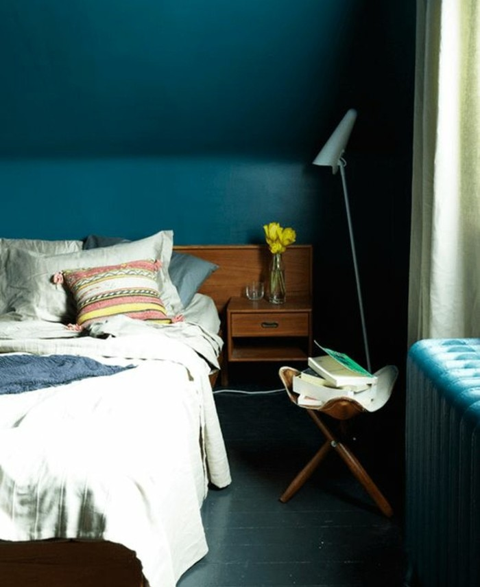 chambre couleur bleu petrole avec des id es int ressantes pour la conception de. Black Bedroom Furniture Sets. Home Design Ideas