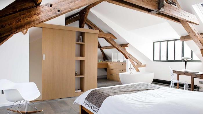 chambre comble aménagement combles perdus sous toits