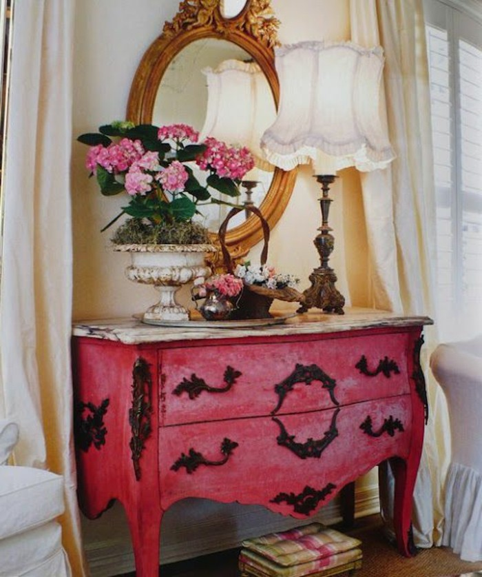 With chambre baroque rose et noir - Chambre baroque rose ...