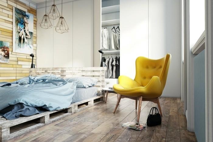 chambre scandinave jaune » Photos de design d\'intérieur et ...