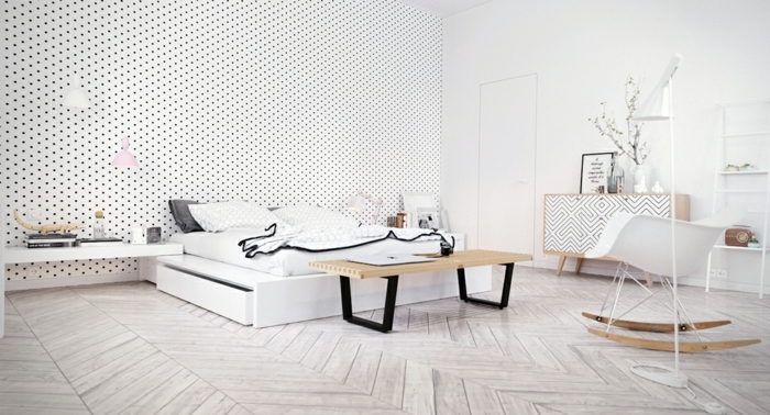 1001 id es pour une chambre scandinave styl e. Black Bedroom Furniture Sets. Home Design Ideas