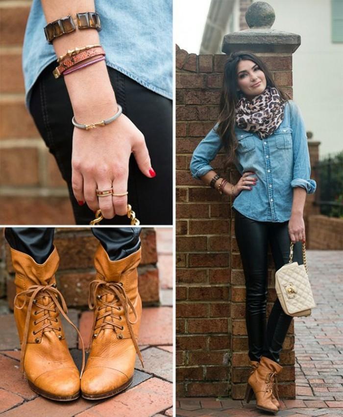 chemise-en-jeans-femme-comment-porter-un-vetement-en-denim