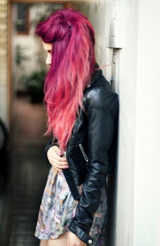 cheveux couleur rose coloration cheveux framboise - Coloration Cheveux Framboise
