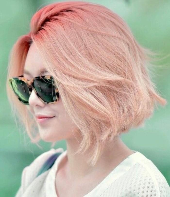 cheveux-rose-doré-coupes-de-cheveux-courtes