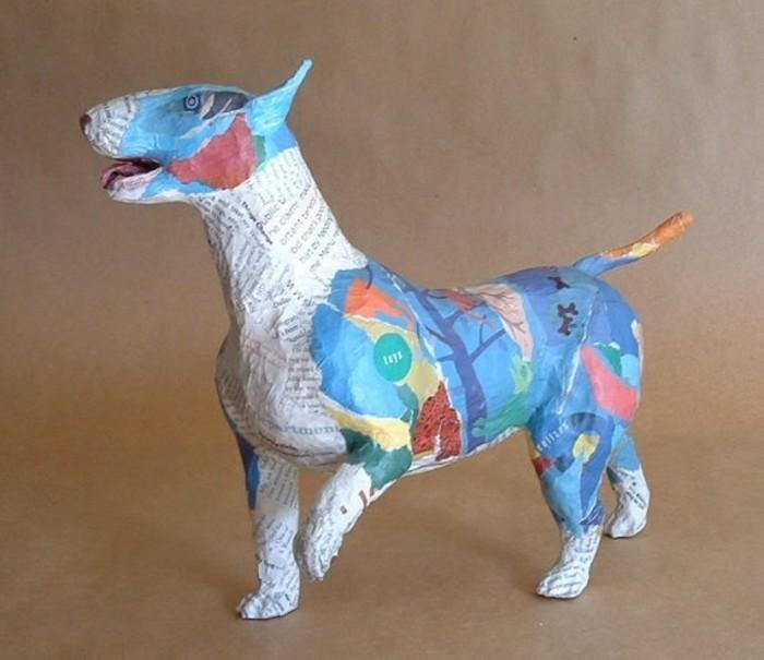 chien-papier-maché-papier-journal-et-papier-coloré-a-différents-motifs-art-patchwork-comment-faire-du-papier-maché-resized